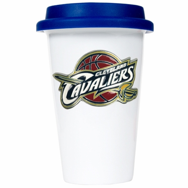 Cleveland Cavaliers Ceramic Travel Cup (Team Color Lid)
