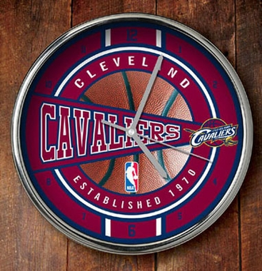 Cleveland Cavaliers Chrome Clock