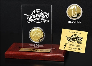 Cleveland Cavaliers Gold Coin Etched Acrylic