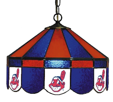 Cleveland Indians 16 Inch Diameter Stained Glass Pub Light