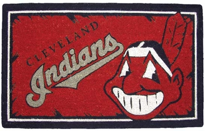 Cleveland Indians 18x30 Bleached Welcome Mat
