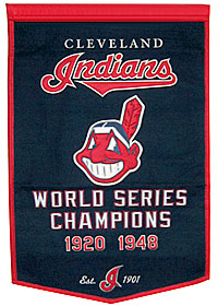 "Cleveland Indians 24""x36"" Dynasty Wool Banner"