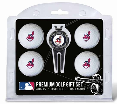 Cleveland Indians 4 Ball and Tool Gift Set