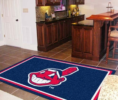 Cleveland Indians 5 Foot x 8 Foot Rug