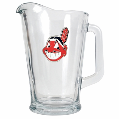 Cleveland Indians 60 oz Glass Pitcher