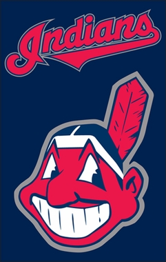 Cleveland Indians Applique Banner Flag