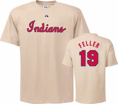 Cleveland Indians Bob Feller Name and Number T-Shirt