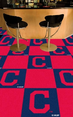 Cleveland Indians Carpet Tiles