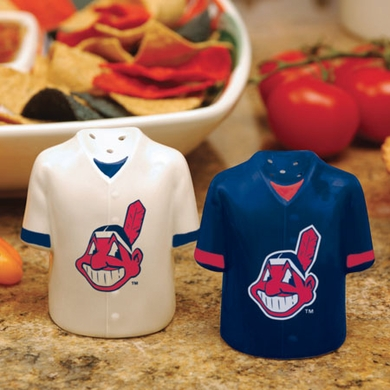 Cleveland Indians Ceramic Jersey Salt and Pepper Shakers