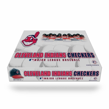 Cleveland Indians Checkers Set