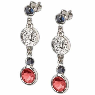 Cleveland Indians Crystal Logo Dangle Earrings