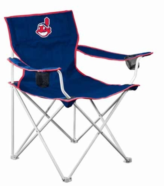 Cleveland Indians Deluxe Adult Folding Logo Chair