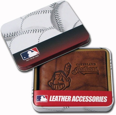 Cleveland Indians Embossed Leather Bifold Wallet