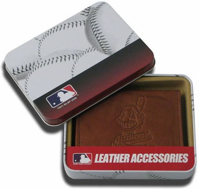Cleveland Indians Embossed Leather Trifold Wallet