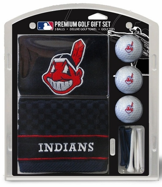 Cleveland Indians Embroidered Towel Golf Gift Set