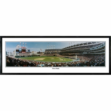 Cleveland Indians First Pitch Framed Panoramic Print