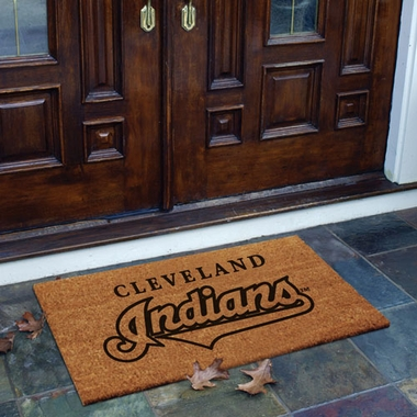 Cleveland Indians Flocked Coir Doormat