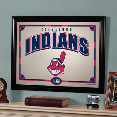 Cleveland Indians Framed Mirror