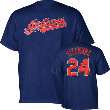 Cleveland Indians Grady Sizemore Name and Number T-Shirt