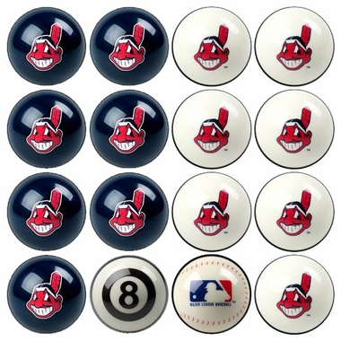 Cleveland Indians Home and Away Complete Billiard Ball Set