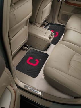 Cleveland Indians SET OF 2 Heavy Duty Vinyl Rear Car Mats