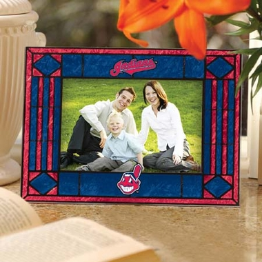 Cleveland Indians Landscape Art Glass Picture Frame