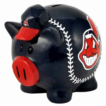 Cleveland Indians Large Thematic Piggy Bank