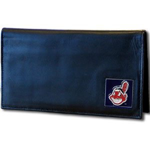 Cleveland Indians Leather Checkbook Cover (F)