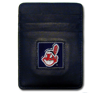 Cleveland Indians Leather Money Clip