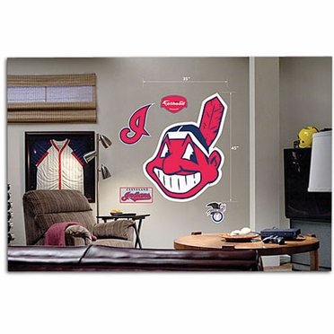 Cleveland Indians Logo Fathead Wall Graphic
