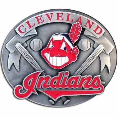 Cleveland Indians Enameled Belt Buckle