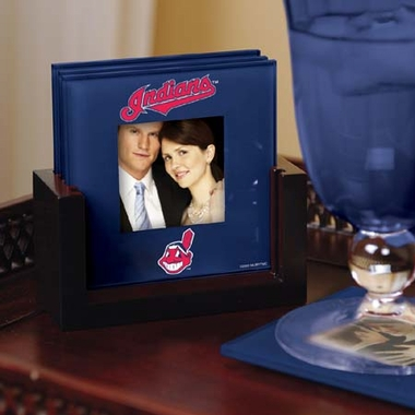 Cleveland Indians Photo Coaster Set