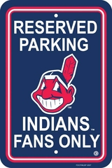 Cleveland Indians Plastic Parking Sign (P)