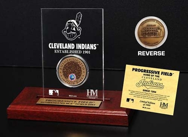 Cleveland Indians Progressive Field Infield Dirt Coin Etched Acrylic
