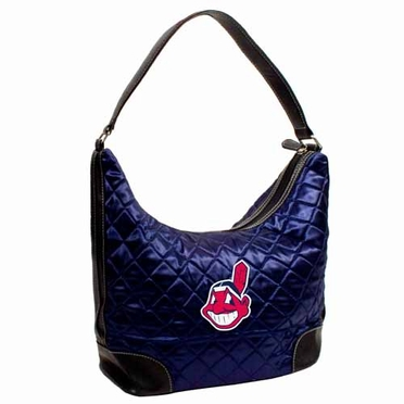 Cleveland Indians Quilted Hobo Purse
