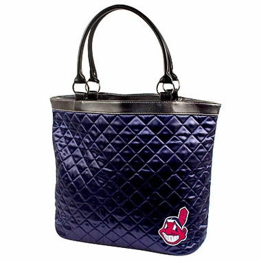 Cleveland Indians Quilted Tote