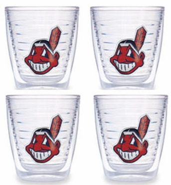 Cleveland Indians Set of FOUR 12 oz. Tervis Tumblers