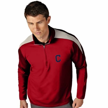 Cleveland Indians Mens Succeed 1/4 Zip Performance Pullover (Team Color: Red)