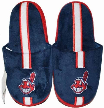 Cleveland Indians Team Stripe Slide Slippers