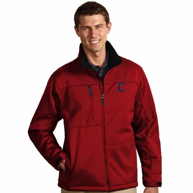 Cleveland Indians Mens Traverse Jacket (Team Color: Red)