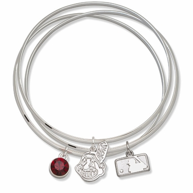Cleveland Indians Triple Bangle Bracelet