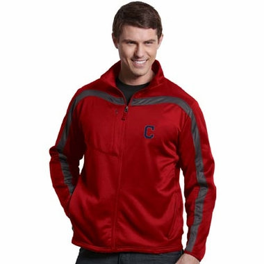 Cleveland Indians Mens Viper Full Zip Performance Jacket (Team Color: Red)
