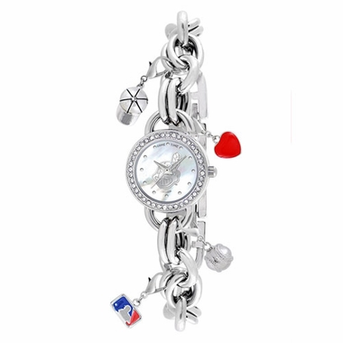 Cleveland Indians Women's Charm Watch