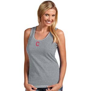 Cleveland Indians Womens Sport Tank Top (Color: Gray) - Small