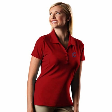Cleveland Indians Womens Pique Xtra Lite Polo Shirt (Team Color: Red)