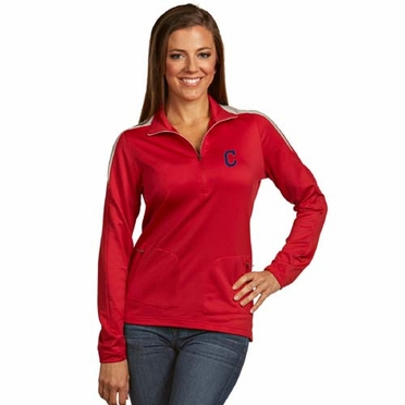Cleveland Indians Womens Succeed 1/4 Zip Performance Pullover (Team Color: Red)