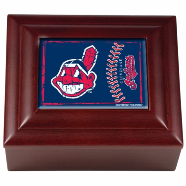 Cleveland Indians Wooden Keepsake Box