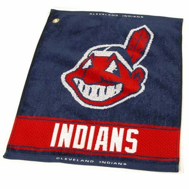 Cleveland Indians Woven Golf Towel