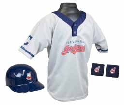 Cleveland Indians YOUTH Helmet and Jersey Set