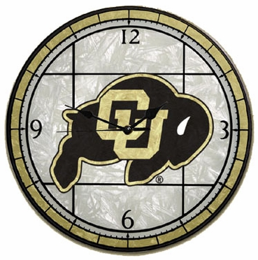 Colorado Art Glass Clock